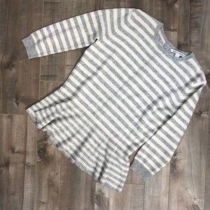 Autumn Cashmere striped peplum sweater